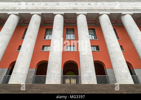 The Post office building, Palazzo delle Poste, Palermo, Sicily, Italy. - Stock Photo