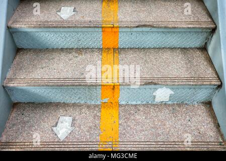 Up and Down Arrows on Stair. - Stock Photo