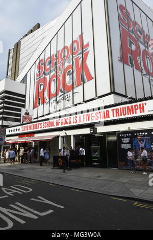 Andrew Lloyd Webber's School of Rock The Musical, at Gillian Lynne Theatre formerly known as New London Theatre. - Stock Photo