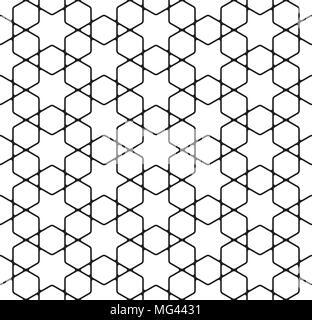 Seamless simple geometric pattern - Stock Photo