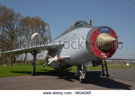 English Electric Lightning F6 XS903 is pictured at the Yorkshire Air Museum, Elvington airfield, Yorkshire, UK - Stock Photo