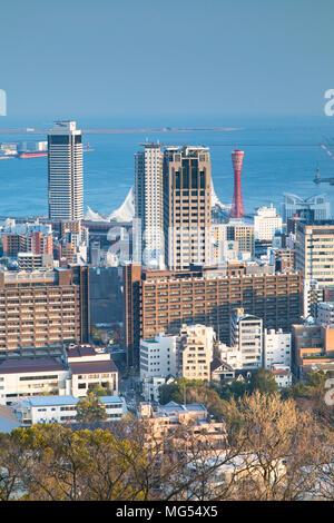 View of Kobe skyline, Kobe, Kansai, Japan - Stock Photo