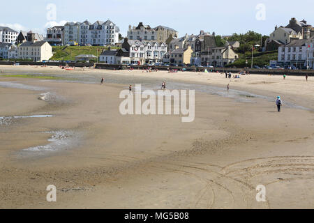 the large beach at port erin on the west coast of the isle of man - Stock Photo