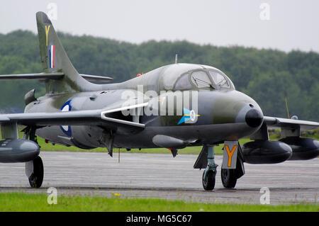 Hawker Hunter 208 Squadron RAF - Stock Photo