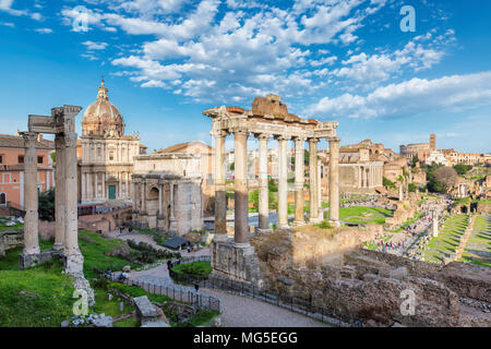 Roman Forum in Rome, Italy during sunset. - Stock Photo