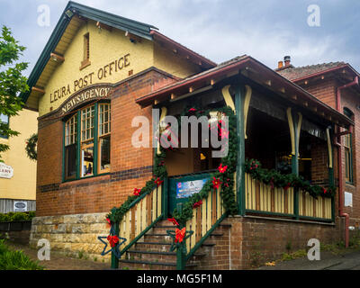 Leura Post Office and Newsagency, Leura Village, Blue Mountains, New South Wales, Australia - Stock Photo