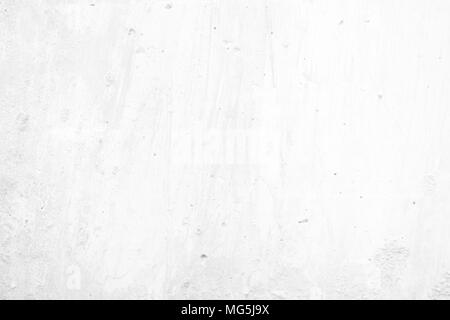 Water Grunge on White Concrete Wall Texture Background. - Stock Photo