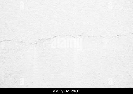 Broken White Concrete Wall Texture Background. - Stock Photo