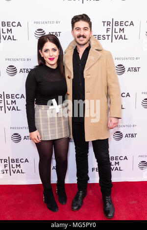 NEW YORK, NY - APRIL 22: Producers Eric Fleischman and Natalie Qasabian attend screening of 'All About Nina' during the 2018 Tribeca Film Festival at  - Stock Photo