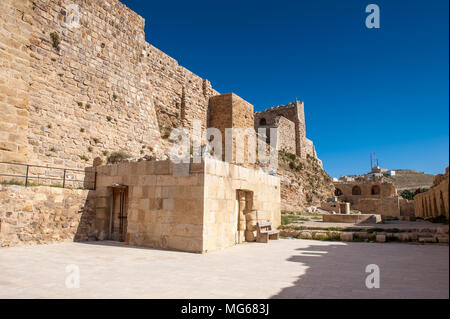 Lower court in the Kerak Castle, a large crusader castle in Kerak (Al Karak) in Jordan. - Stock Photo
