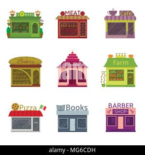 Shops and restaurants - Stock Photo