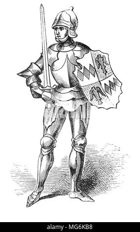 Richard Neville, 16th Earl of Warwick (1428 – 1471), known as Warwick the Kingmaker, was an English nobleman, administrator, and military commander.  Warwick was the wealthiest and most powerful English peer of his age, with political connections that went beyond the country's borders. One of the leaders in the Wars of the Roses, originally on the Yorkist side but later switching to the Lancastrian side, he was instrumental in the deposition of two kings, which led to his epithet of 'Kingmaker'. - Stock Photo