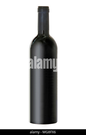 Bordeaux Bottle against plain white background - Stock Photo