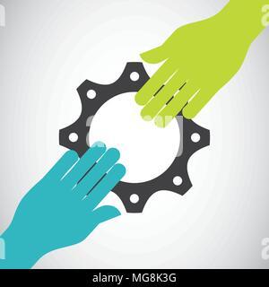 collaborative teamwork design, vector illustration eps10 graphic - Stock Photo
