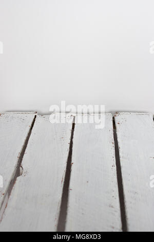 White wooden planks, table, floor surface. Cutting chopping board. Wood texture. - Stock Photo