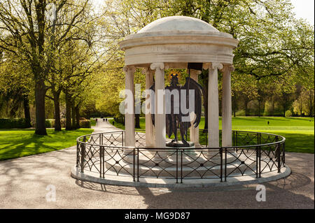 War memorial, The Dingle, Shrewsbury, England - Stock Photo