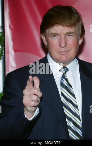 Donals Trump arriving at the NBC All-Star Party for the New Fall Season 2004 at the Universal Lot in Los Angeles. July 11, 2004. Trump Donald   headshot, portrait, - Stock Photo