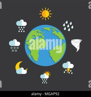 weather concept design, vector illustration eps10 graphic - Stock Photo