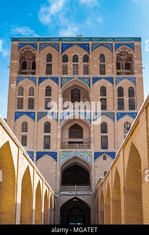 Road to the Ali Qapu Palace, a grand palace in Isfahan, Iran - Stock Photo