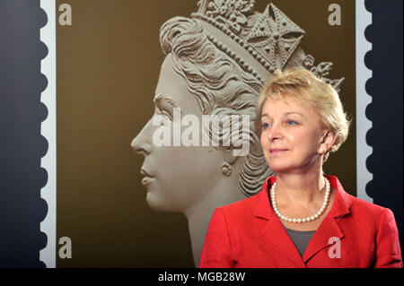 Moya Greene, Chief Executive of the Royal Mail, photographed in their London offices, Unilever House. - Stock Photo