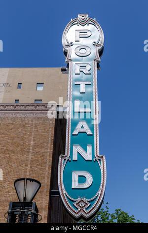 Historic downtown Portland Oregon Sign