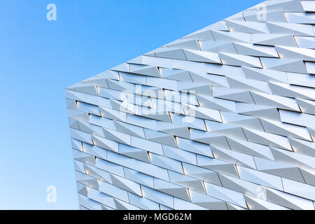 Belfast/N. Ireland - May 31, 2015: At the dock where the Titanic was built is a museum commemorating the iconic vessel. - Stock Photo