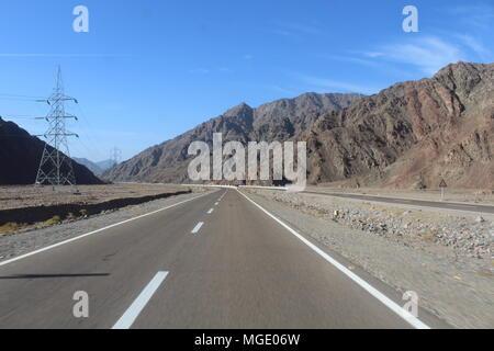 Beautiful canyon, mountains in Egypt. Sharm el-Sheikh - Stock Photo