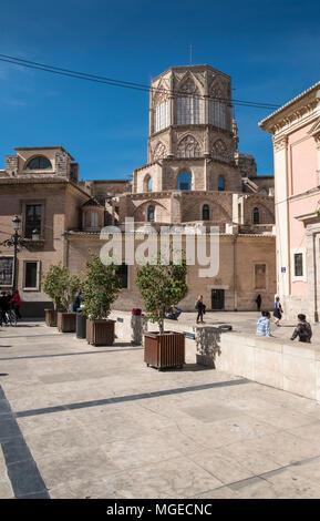 Plaza Decimo Junio Bruto, part of the old historical city centre in North Ciutat Vella district, Valencia, Spain.