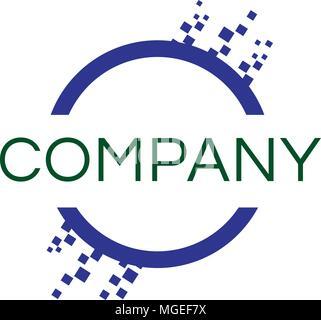 Corporate circle business technology creative concept logo - Stock Photo