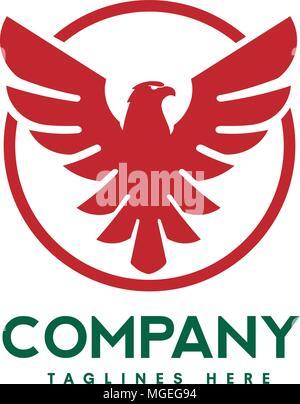 Eagle Bird With Circle Logo Creative Hawk Logotype Phoenix Bird
