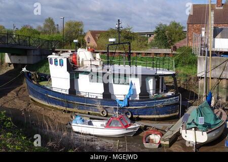 Barton on Humber Haven close to Humber Bridge, Northern UK - Stock Photo