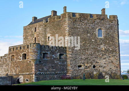 The North Tower of Blackness Fort, situated on the south bank of the Firth of Forth, near Edinburgh in Scotland. - Stock Photo
