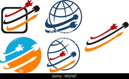 World Computer Cable Set - Stock Photo