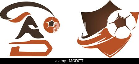 Football Warrior Template Set - Stock Photo