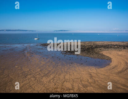 Swansea Bay from The Promenade Terrace, Mumbles, South Wales, UK - Stock Photo