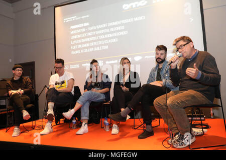 Brighton, UK,  26th April 2018.  DAY TWO.  The UK's foremost electronic music conference returns for its 5th year to Brighton Dome and various venues across the city from 25 - 28 April 2018.