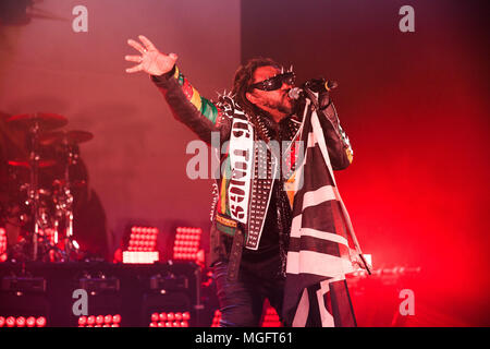 O2 Academy Brixton, London, UK, 28th April 2018, Benjie Webb, Skindred on their Big Tings tour, © Richard Soans/Alamy Live News - Stock Photo