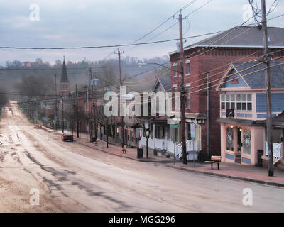 April 28, 2018. Camillus, New York, USA. Small town of Camillus , NY, in upstate New York , early morning after a rain shower - Stock Photo