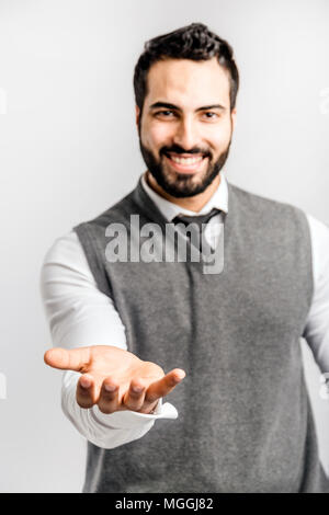 Man Holding Space - Stock Photo