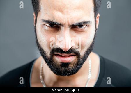 Portrait of Bearded Man - Stock Photo