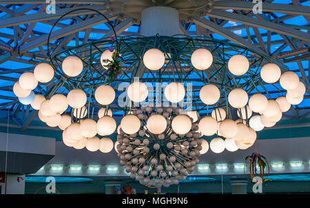 A huge chandelier in the Mall - Stock Photo