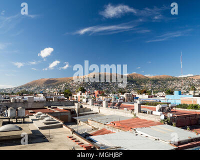 Oaxaca, Mexico, South America: City views from a roof, panorama, landscape, aerial - Stock Photo