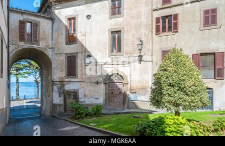 Scenic sight in Montefiascone, province of Viterbo, Lazio, central Italy. - Stock Photo