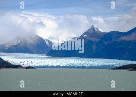 An overview of the wonderful Perito Moreno glacier in southern Argentina, near the Patagonian city of El Calafate. - Stock Photo