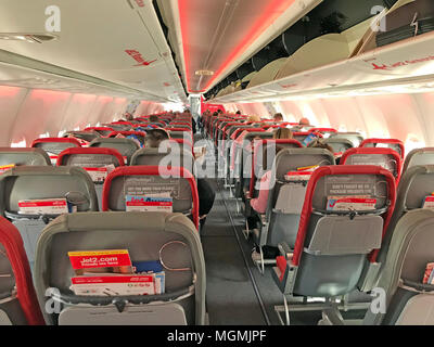 Interior Of Jet2 Aircraft Passenger Cabin In Flight Europe Stock Photo 54694358 Alamy