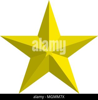 star 3d icon vector template - Stock Photo