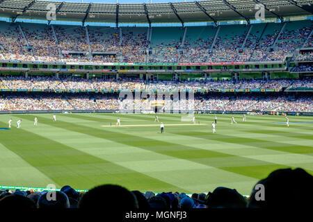 Test cricket at the Melbourne Cricket Ground (MCG), Australia versus England, Boxing Day 2018 - Stock Photo