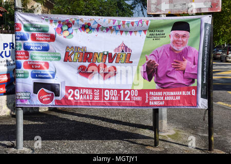 Malaysians are gearing up for a general election on May 9, with more then 2,000 candidates, including a 92-year old former prime minister, running for the 222 parliamentary seats. Current prime minister Najib Razak is expected to remain in power despite rising living costs and political scandals. - Stock Photo