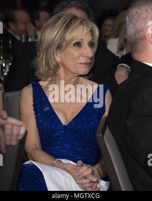 Washington, District of Columbia, USA. 28th Apr, 2018. NBC News Chief Foreign Affairs Correspondent Andrea Mitchell attends the 2018 White House Correspondents Association Annual Dinner at the Washington Hilton Hotel on Saturday, April 28, 2018.Credit: Ron Sachs/CNP. Credit: Ron Sachs/CNP/ZUMA Wire/Alamy Live News - Stock Photo