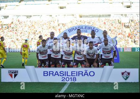 Rio De Janeiro, Brazil. 29th Apr, 2018. Photo during Fluminense and São Paulo, held at the Estadio Jornalista Mário Filho (Maracanã), for the 3rd round of the Brazilian Championship, in Rio de Janeiro, RJ. Credit: Nayra Halm/FotoArena/Alamy Live News - Stock Photo